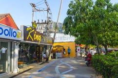 Stazione turistica della via del Ao Nang. immagine stock libera da diritti