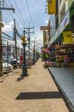 Stazione turistica della via della città di Krabi fotografia stock libera da diritti