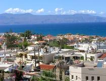 Stazione turistica di Platanias, Creta, Grecia Fotografie Stock Libere da Diritti