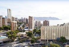 Stazione turistica estiva Benidorm in Spagna Immagine Stock Libera da Diritti