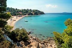 Stazione turistica estiva della penisola di Halkidiki Immagine Stock Libera da Diritti
