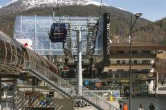 Stazione a valle di Gaislachkogel, Austria, editoriale Immagini Stock