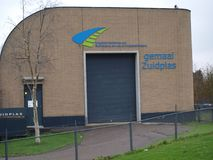 Stazione Zuidplas di pompaggio dell'acqua in Waddinxveen, Paesi Bassi fotografia stock libera da diritti