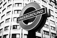 Stazioni della metropolitana in sotterraneo di Londra azionate da TFL Fotografie Stock