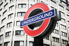 Stazioni della metropolitana in sotterraneo di Londra azionate da TFL Immagine Stock Libera da Diritti