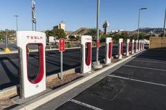 Stazioni di carico di Tesla vicino a Las Vegas Nevada Immagine Stock