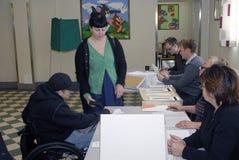 STAZIONI DI VOTAZIONE DEGLI SVEDESI Immagine Stock Libera da Diritti