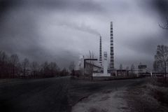 Stazioni elettriche di Narva fotografia stock libera da diritti