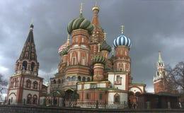 StBasil` s Kathedraal, Moskou Stock Afbeelding