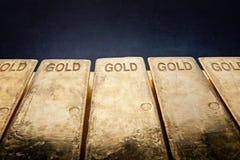 Stäbe des Goldes Stockfotografie