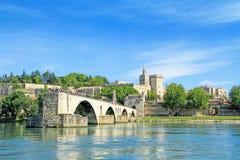 StBenezet桥梁在阿维尼翁,法国 库存照片