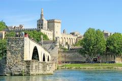 StBenezet桥梁在阿维尼翁,法国 免版税库存图片