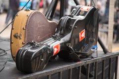 Stciker случаев гитары концерт улицы трудного хрупкий Стоковые Фотографии RF