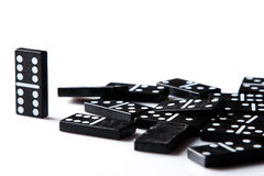 Stücke Domino Stockfotos