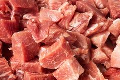 Stücke frisches Schweinefleisch Lizenzfreies Stockbild