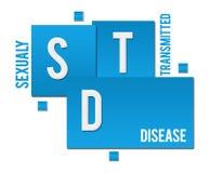 STD - Choroby Przenoszona Drogą Płciową błękit Obciosuje tekst royalty ilustracja