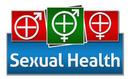 STD - Sexually Transmitted Disease Red Blue Squares Stock Images