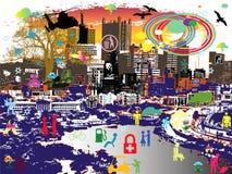 Städtische Abbildungen Lizenzfreies Stockfoto