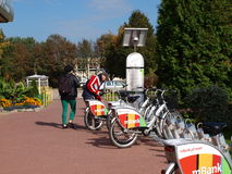 Städtische Fahrradmiete Lublins Lizenzfreie Stockfotos
