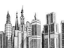 Städtische generische Architekturskizze Lizenzfreies Stockfoto