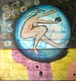 Städtische Kunst kugel Stockbild