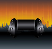 Städtische Lautsprecheranschlagtafelauslegung Stockfotografie