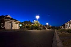 Städtische Nachtszene Stockfoto