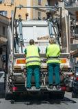 Städtische Wiederverwertungsabfall- und Abfalldienstleistungen Stockbilder