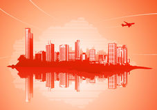 Städtischer Hintergrund Stockbild