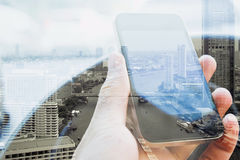 Städtischer Lebensstil und Kommunikationstechnologie Lizenzfreie Stockfotografie
