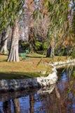 Städtischer Park im Herbst, Kanada Lizenzfreies Stockfoto
