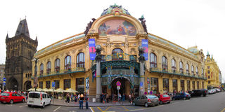 Städtisches Haus Prags, Tschechische Republik Stockfotos