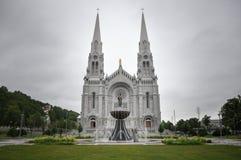 Ste Anne de Beaupre Basilica, nära Quebec, Kanada Arkivfoton