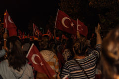 30ste August Turkish Victory Day Parade bij Nacht Royalty-vrije Stock Fotografie