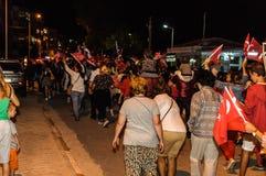 30ste August Turkish Victory Day Parade bij Nacht Royalty-vrije Stock Afbeeldingen