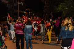 30ste August Turkish Victory Day Parade bij Nacht Royalty-vrije Stock Foto's