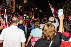30ste August Turkish Victory Day Parade bij Nacht Royalty-vrije Stock Afbeelding