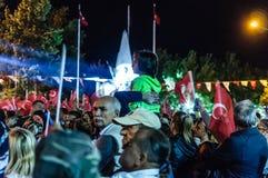 30ste August Turkish Victory Day Parade bij Nacht Stock Afbeeldingen