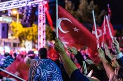 30ste August Turkish Victory Day Parade bij Nacht Stock Fotografie
