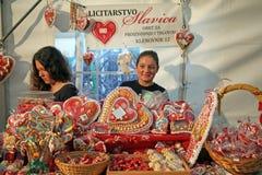 50ste Dagen van de cultuur van 'Kaj', Krapina 2015 Kroatië, Europa, suikergoed 4 royalty-vrije stock foto