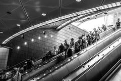 34ste de metropost New York van straathudson yards Stock Foto
