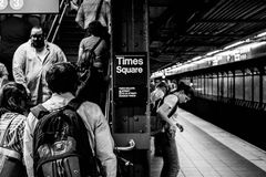 34ste de metropost New York van straathudson yards Stock Fotografie