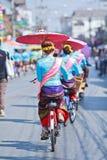 30ste de paraplufestival van verjaardagsbosang in Chiangmai-provincie van Thailand Royalty-vrije Stock Afbeeldingen