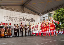 21-ste internationaal festival in Plovdiv, Bulgarije Stock Afbeelding