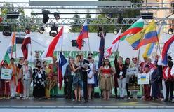 21ste Internationaal Folklorefestival Vitosha 2017 Royalty-vrije Stock Foto