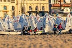29ste INTERNATIONALE PALAMOS-OPTIMISTENtrofee 2018, 13TH NATIESkop, 15 Februari 2018, Stad Palamos, Spanje Stock Afbeeldingen