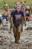 """21ste Jaarlijkse Marine Mud Run †""""beëindigt Lijn Royalty-vrije Stock Foto"""