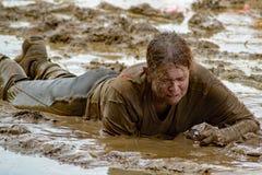 """21ste Jaarlijkse Marine Mud Run †""""geeft nooit op Royalty-vrije Stock Afbeelding"""