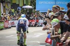 102ste Ronde van Frankrijk - Tijdproef - Eerste Stadium Stock Foto's