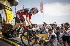 102ste Ronde van Frankrijk - Tijdproef - Eerste Stadium Royalty-vrije Stock Foto